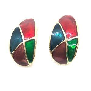 VTG Festive Clip on Earrings